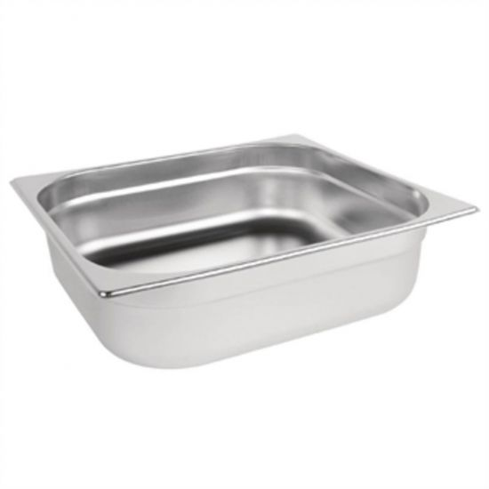 Vogue Stainless Steel 2/3 Gastronorm Pan 100mm URO K812