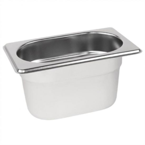 Vogue Stainless Steel 1/9 Gastronorm Pan 100mm URO K825