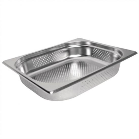Vogue Stainless Steel Perforated 1/2 Gastronorm Pan 150mm URO K846