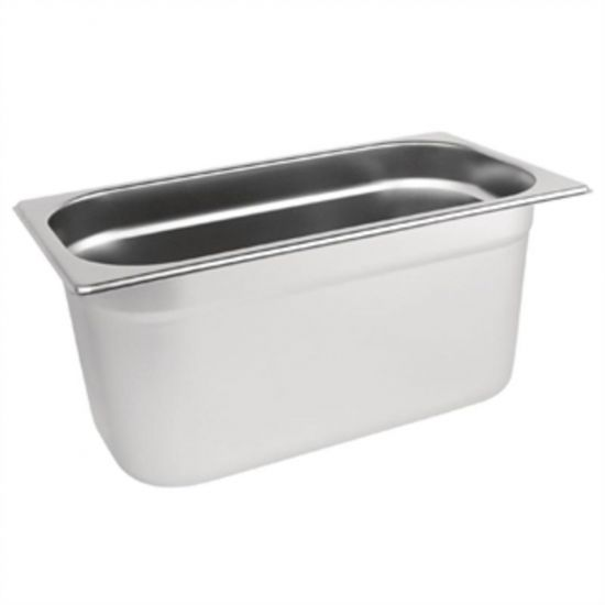 Vogue Stainless Steel 1/3 Gastronorm Pan 150mm URO K934