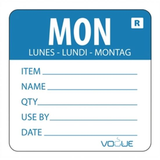 2 Inch Removable Monday Day Of The Week Label URO L066