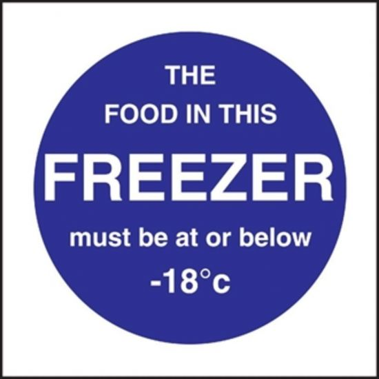 Vogue Food In This Freezer Sign URO L839
