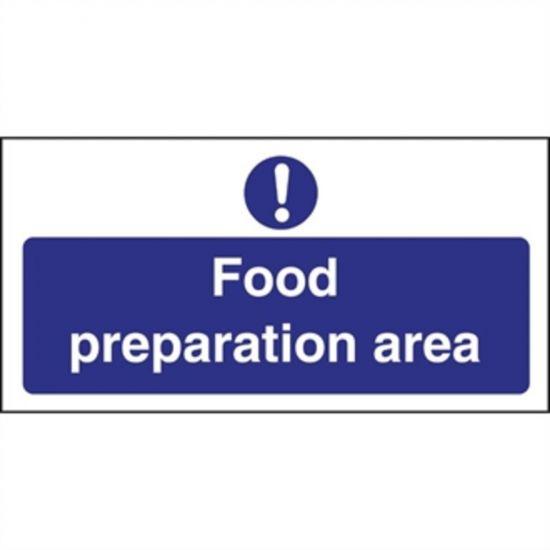 Vogue Food Preparation Area Sign URO L840