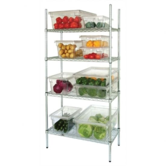 Vogue 4 Tier Wire Shelving Kit 1525x460mm URO L929