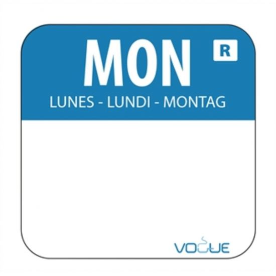 1 Inch Colour Coded Blue Monday Food Labels URO L931