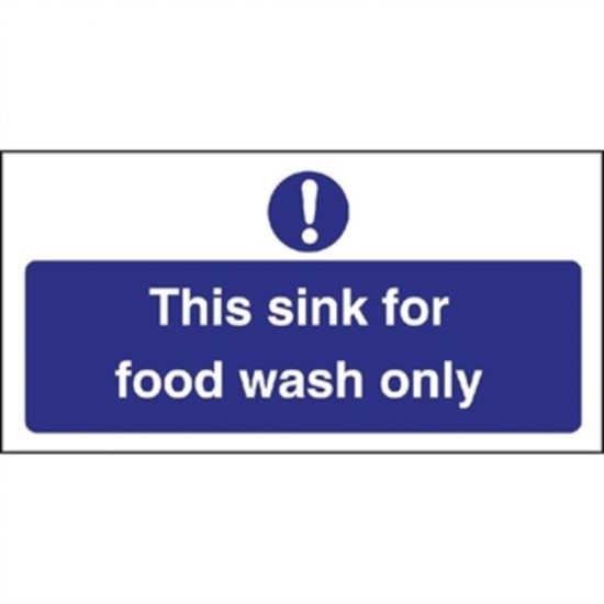 Vogue Food Wash Only Sign URO L961