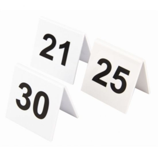 Plastic Table Numbers 21-30 URO L983