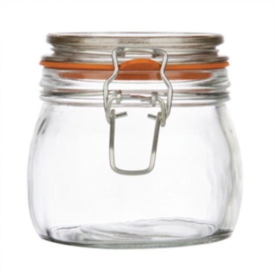 Vogue Clip Top Preserve Jar 500ml URO P490