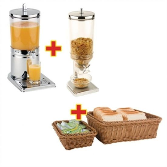 APS Breakfast Service Set With Cereal Dispenser, Juice Dispenser And Baskets URO S957