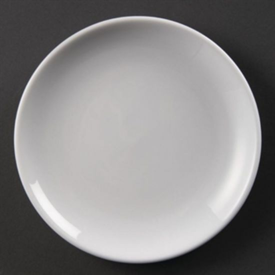 Olympia Whiteware Coupe Plates 180mm Box of 12 URO U076