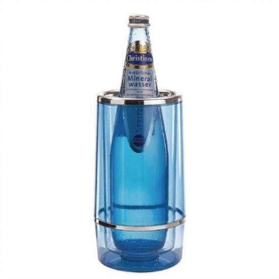 APS Wine Bottle Cooler Blue URO U219
