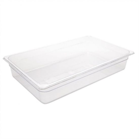 Vogue Polycarbonate 1/1 Gastronorm Container 100mm Clear URO U225
