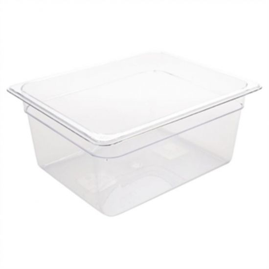 Vogue Polycarbonate 1/2 Gastronorm Container 150mm Clear URO U230