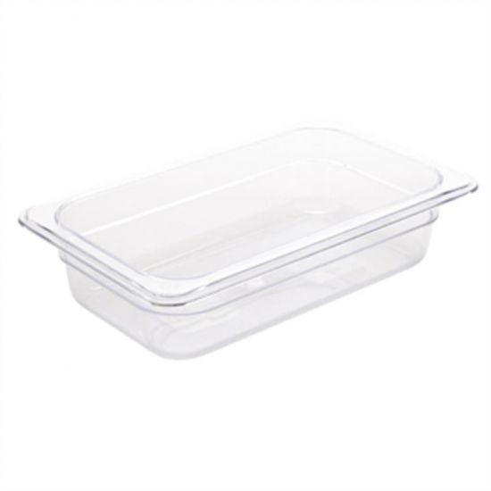 Vogue Polycarbonate 1/4 Gastronorm Container 65mm Clear URO U236