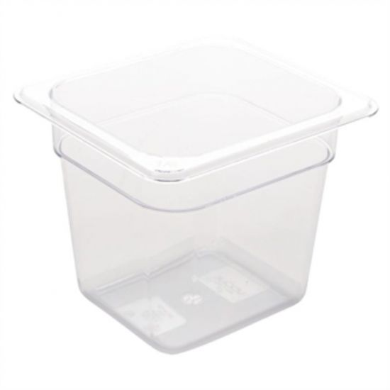 Vogue Polycarbonate 1/6 Gastronorm Container 150mm Clear URO U241