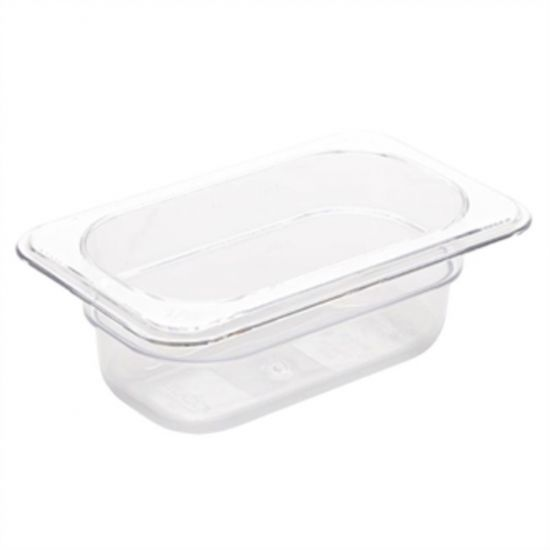 Vogue Polycarbonate 1/9 Gastronorm Container 65mm Clear URO U242