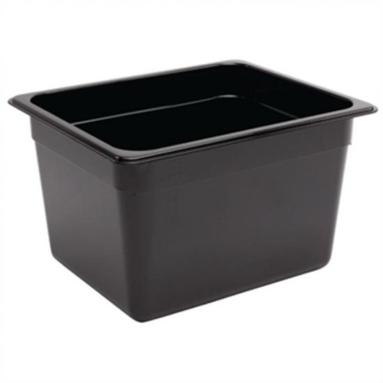 Vogue Polycarbonate 1/2 Gastronorm Container 200mm Black URO U461