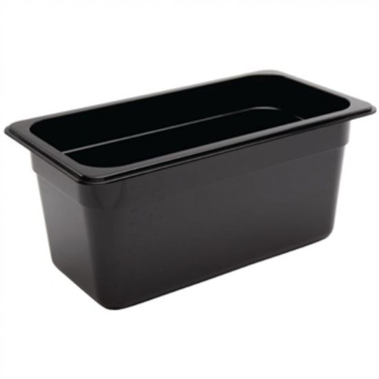 Vogue Polycarbonate 1/3 Gastronorm Container 150mm Black URO U464