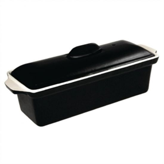 Vogue Black Cast Iron Pate Terrine Mould 1.7Ltr URO U560