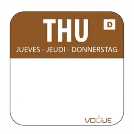 Dissolvable Thursday Food Rotation Labels URO U780