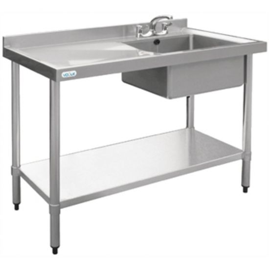 Vogue Stainless Steel Sink Right Hand Bowl 1000x600mm URO U902