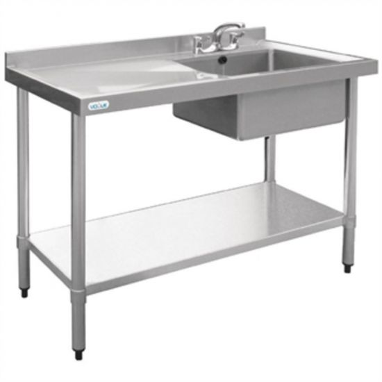 Vogue Stainless Steel Sink Right Hand Bowl 1200x600mm URO U903
