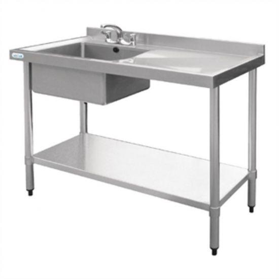 Vogue Stainless Steel Sink Left Hand Bowl 1200x600mm URO U904