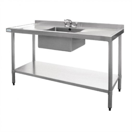 Vogue Stainless Steel Sink Double Drainer 1500mm URO U907