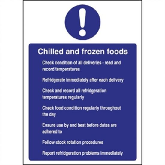 Vogue Chilled And Frozen Foods Sign URO W197