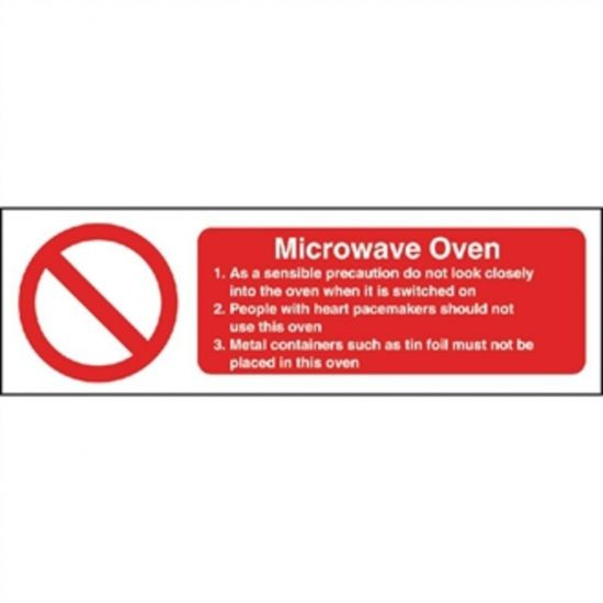 Vogue Microwave Oven Safety Sign URO W231
