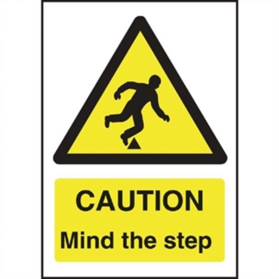 Caution Mind The Step Sign URO W290