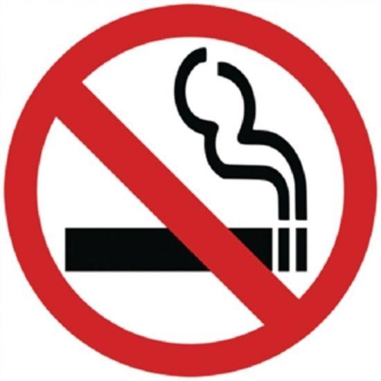 No Smoking Symbol Window Sign URO Y937