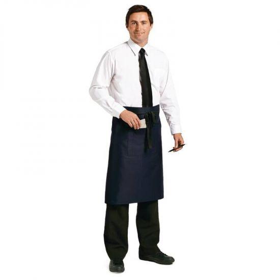 Uniform Works Regular Bistro Apron Navy Blue URO A416
