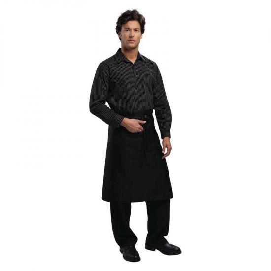 Uniform Works Regular Bistro Apron Black URO A591