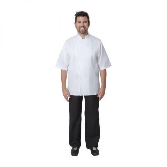 Chef Works Capri Executive Chefs Jacket White 48 URO A915-48