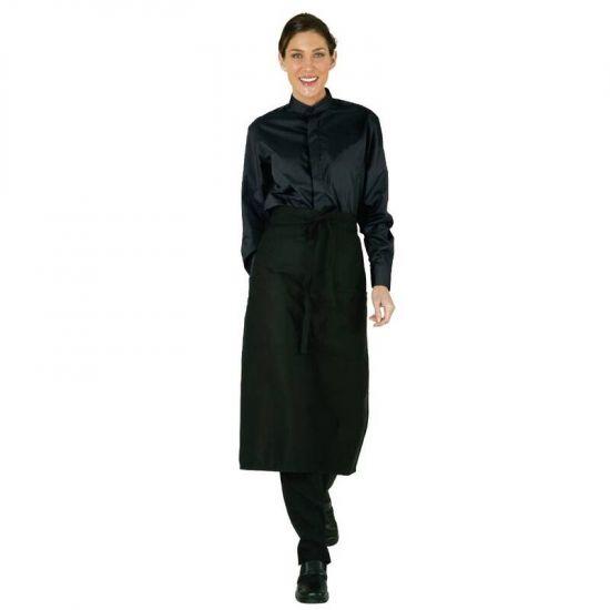 Uniform Works Womens Mandarin Shirt Black L URO B024-L