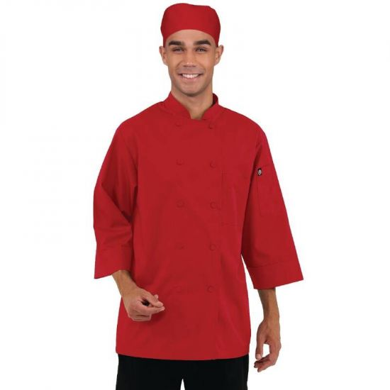 Colour By Chef Works Unisex Jacket Red L URO B106-L
