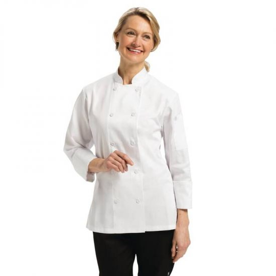 Chef Works Marbella Womens Executive Chefs Jacket White M URO B138-M