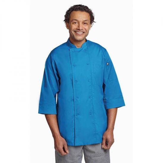 Colour By Chef Works Unisex Chefs Jacket Blue 2XL URO B178-XXL