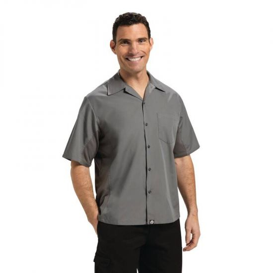 Chef Works Unisex Cool Vent Chefs Shirt Grey M URO B179-M