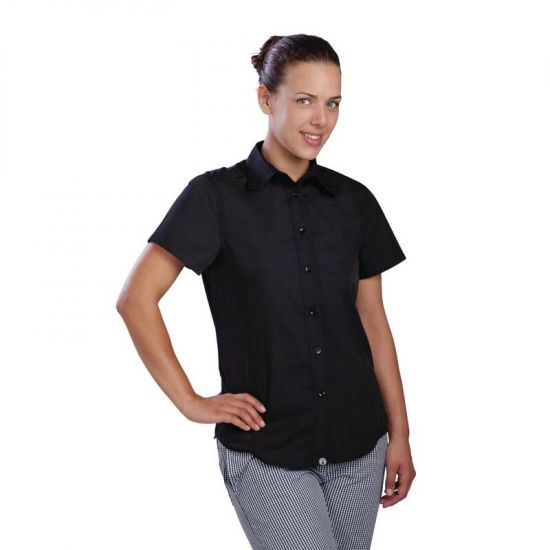 Chef Works Womens Cool Vent Chefs Shirt Black XL URO B181-XL