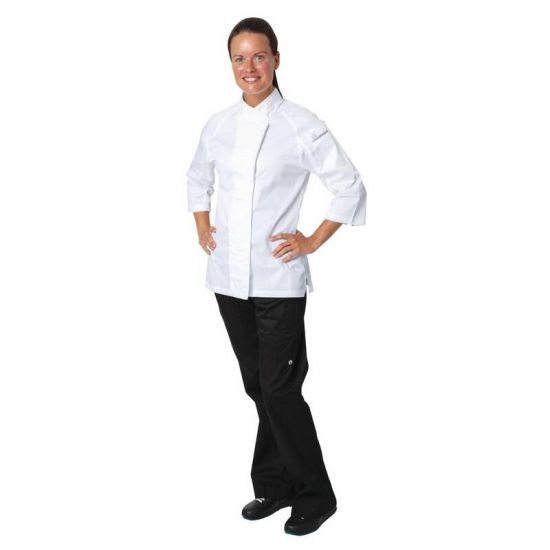 Chef Works Cool Vent Verona Womens Chefs Jacket White M URO B186-M