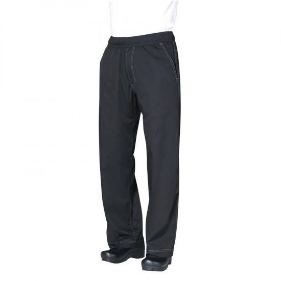 Chef Works Unisex Cool Vent Baggy Chefs Trousers Black L URO B187-L