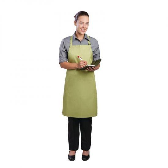 Colour By Chef Works Bib Apron Lime URO B190