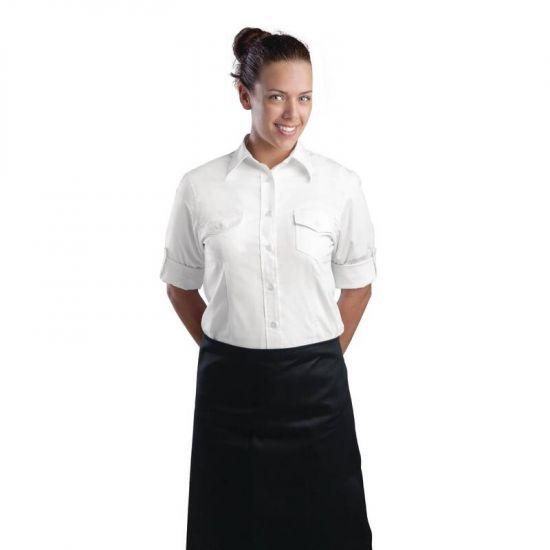 Uniform Works Womens Pilot Shirt White L URO B214-L