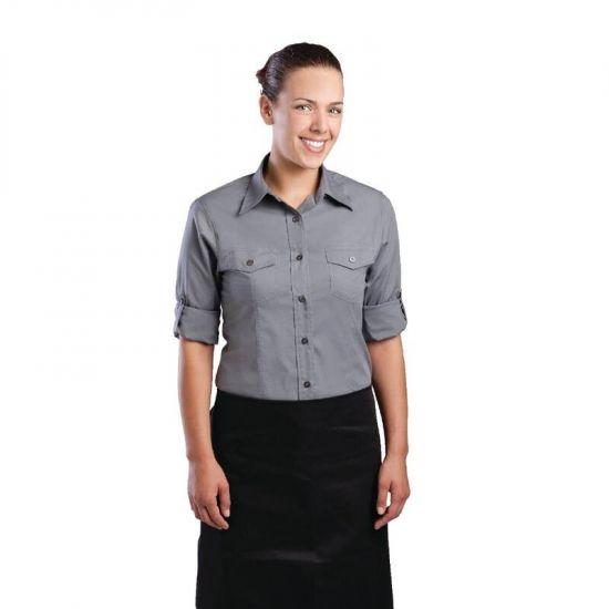 Uniform Works Womens Pilot Shirt Grey XL URO B215-XL