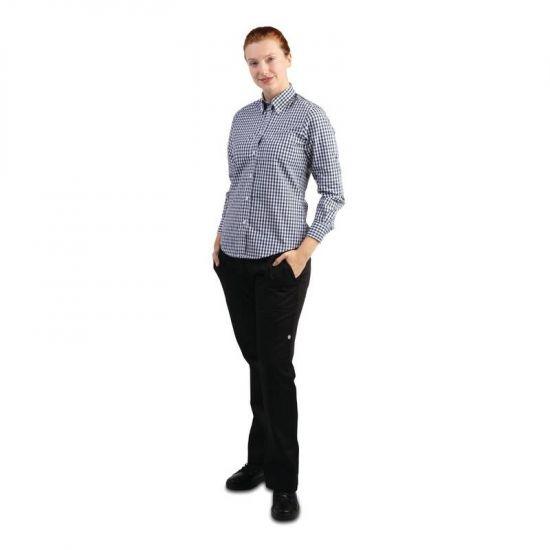 Uniform Works Womens Gingham Shirt Black M URO B217-M
