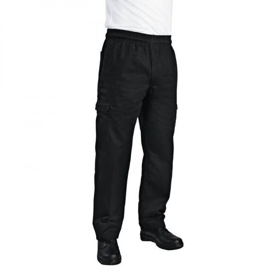 Chef Works Unisex Slim Fit Cargo Chefs Trousers Black 2XL URO B222-XXL