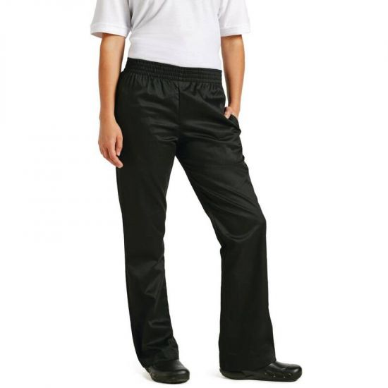 Chef Works Womens Basic Baggy Chefs Trousers Black XS URO B223-XS