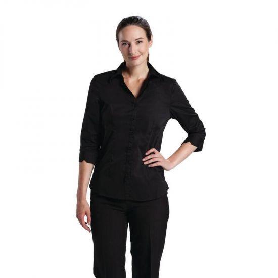 Uniform Works Womens Stretch Shirt Black XL URO B314-XL